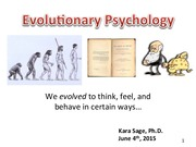 Evolutionary Psych