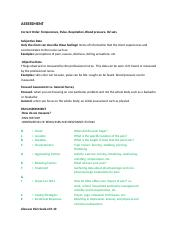 Assessment and Quality Improvement Notes