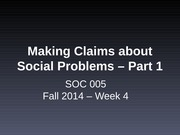 making claims about social problems part 1