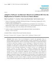 Paper 1 - Deployment of Sensitive Services in Smart Homes