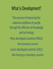 What is Development