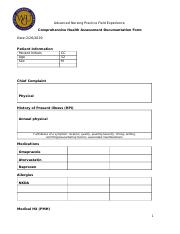 Rhinevault-Comprehensive Health Assessment Documentation Form.docx