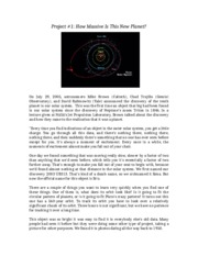 Project 1 Module 2 Astronomy