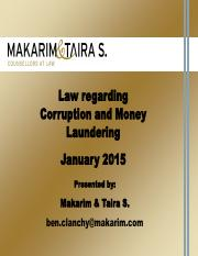 150108_f IPMI Introduction to Law on Corruption and Money Laundering