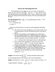 Notes on the Alternating Series Test