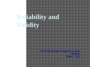 RPTS 336 - (11) Reliability and validity (student version)