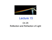 Lecture 14 - Refraction (Ch. 25.5-25.8)