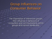 Chapter_7-Group_Influences_on_Consumer_Behavior