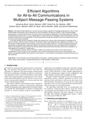 Efficient algorithms for all-to-all communications in multiport mesage passing system
