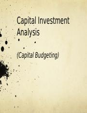 Ch 25 - Capital Investment Analysis.pptx