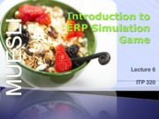 Lecture 6 - Intro to ERP Simulation Game