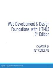 Chapter8 Web Development Design Foundations With Html5 8th Edition Chapter 8 Key Concepts Copyright Terry Felke Morris Http Terrymorris Net 1 Learning Course Hero