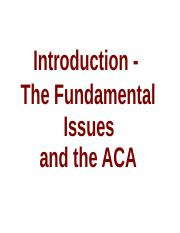 Introduction - The Fundamental Issues and the ACA.ppt