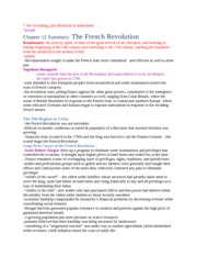 Chapter 12 Summary - The French Revolution