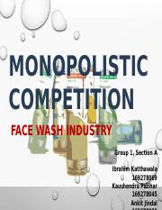 Group 1_Section A_Monopolistic competetion_Facewash