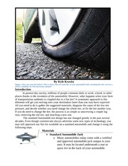 How to Change a Flat Automobile Tire Revised
