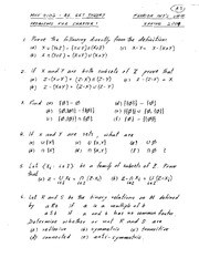 Semester Homework Solutions on Axiomatic Set Theory