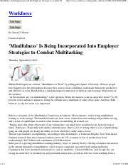 'Mindfulness' Is Being Incorporated Into Employer Strategies to Combat Multitasking - Workforce.pdf