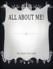 ALL ABOUT ME!- Auditing