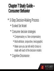 consumer behavior notes ch 1 Chapter 1: the study of consumer behavior in an international environment consumer behavior consumer behavior entails all consumer activities associated with the purchase, use, and disposal of goods and services, including the consumer's emotional, mental, and behavioral.