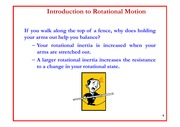 Lecture 15 on Introduction to Rotational Motion