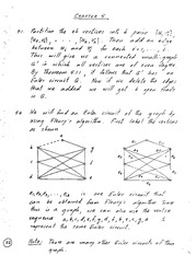 Chapter 5-6 ,8 Homework Solutions on Graph Theory