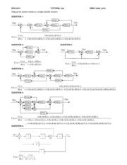 BDA 3073 TUTORIAL 2(a) BLOCK DIAGRAM REDUCTION