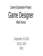 Career Exploration Project .pptx