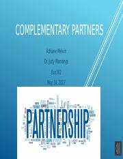 complementary partnerships
