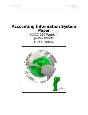 xacc 210 week 4 Type: instant download format: microsoft excel textbook: financial accounting tools for business decision making, sixth edition e3-4 acc290 week 2 assignment.