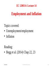 Lecture 14 Employment & Inflation(1)