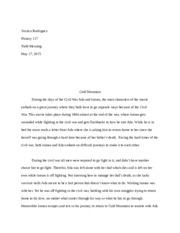 cold mountain essay cold mountain book report the book that im  3 pages cold mountain