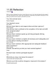1105 reflection