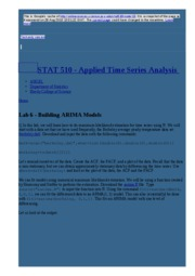 node13 Lab 6 - Building ARIMA Models   STAT 510 - Applied Time Series Analysis