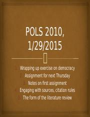 POLS 2010 lit review