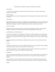 Bartlett High School Spanish 2 Semester 1 Final Exam Oral Prompts.docx