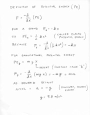 PotentialEnergyDerivations