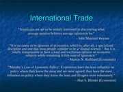 Class Notes - International Trade
