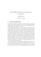 First Welfare Theorem in Production Economies