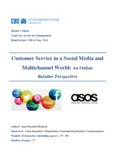 Customer Service in a Social Media and Multichannel World