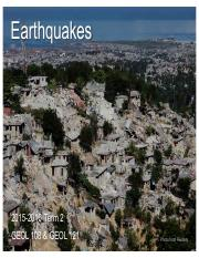 GEOL 108 & GEOL 121 - 2016 - Lec 20, 21 - Earthquakes.pdf