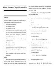 Solutions to homework chapter Tolerance and fits