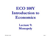 Lecture 09 - ECO100 - Summer 2010 [Compatibility Mode]