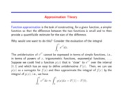 Study Guide on Approximation of Functions