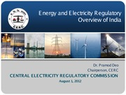 CERC - Energy and Electricity Overview of India - 01 Aug 2012