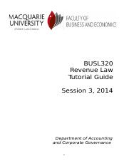 2014.11.10 BUSL320 S3 2014 Tutorial Questions.docx