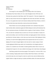 the blind side essay tommy schneider comp workshop the blind  3 pages tommy swamp fox essay