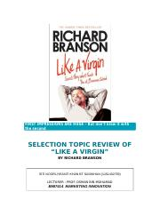 BMI7414 Like A Virgin Book Review by Yeanti.docx