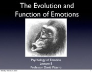 Emotion Lecture 5 2010 Evolution