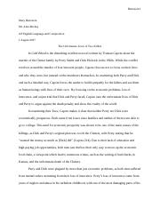 in cold blood critique essay